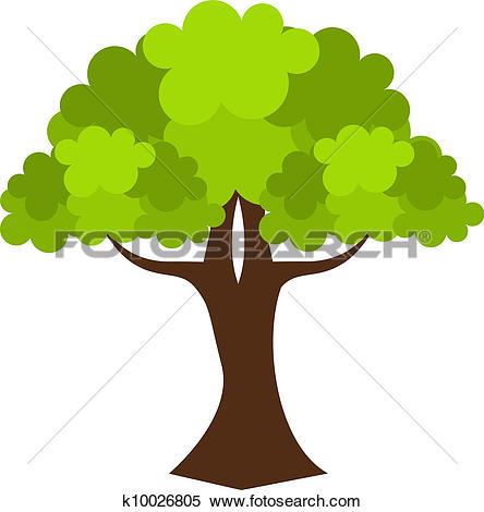 Clipart of Oak tree k9156665.