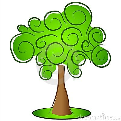 Abstract Green Tree Clip Art Royalty Free Stock Images.