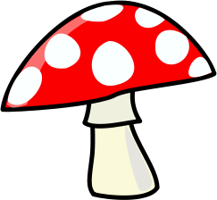 Mushroom clip arts, free clipart.
