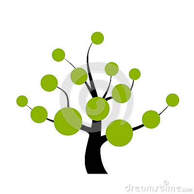 Vector Tree Stock Vector.