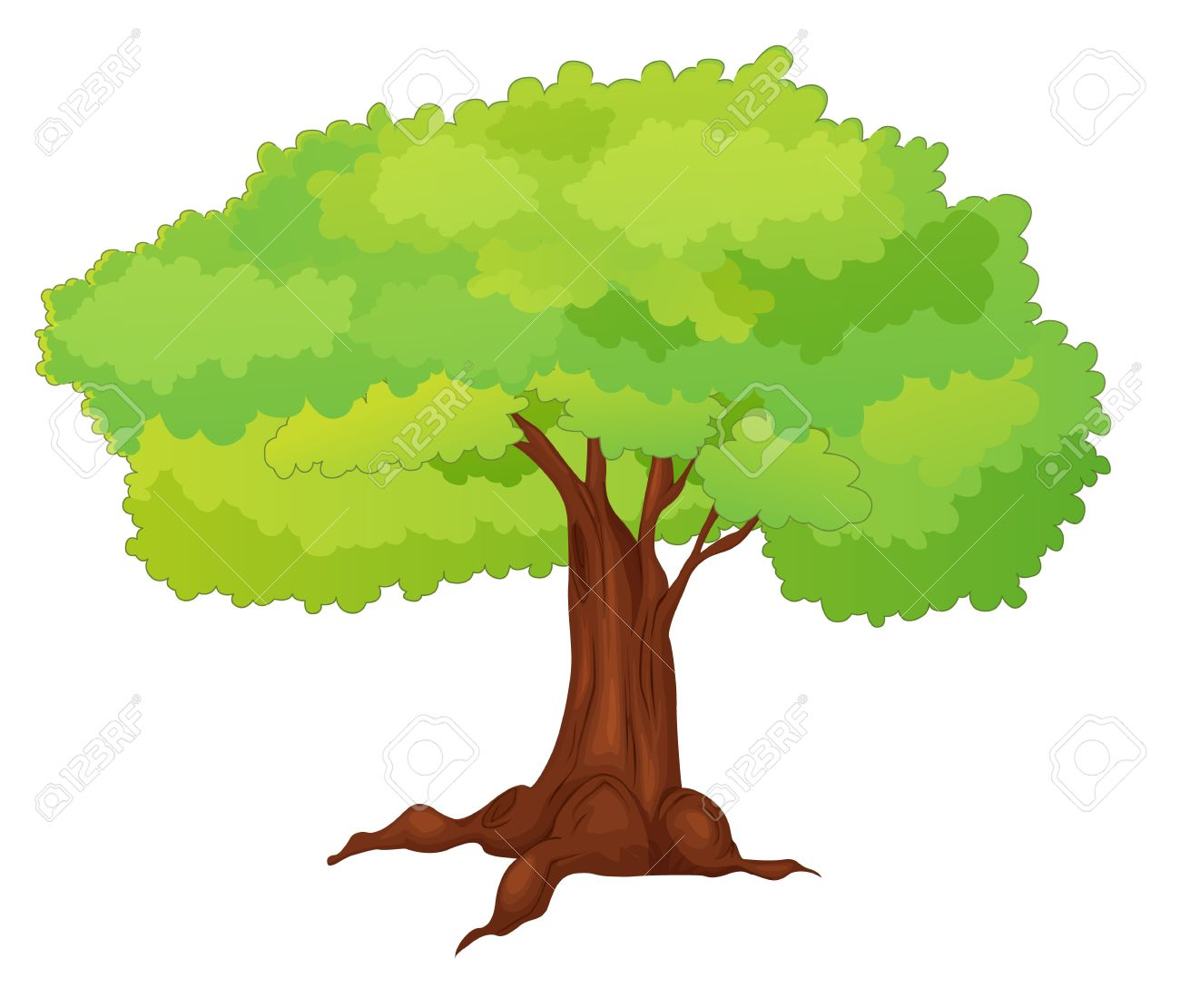 Illustration Einzelner Isolierter Baum.