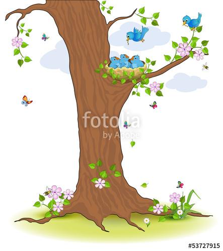"""Vogelnest im Baum"""" Stockfotos und lizenzfreie Vektoren auf Fotolia."""
