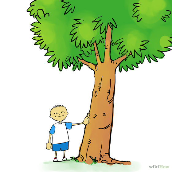 Auf einen astlosen Baum klettern.