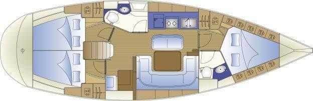 Bareboat Sailing Yacht Bavaria 40 Cruiser.