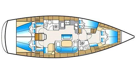 Bavaria 46 Cruiser Croatia Yacht Charter.