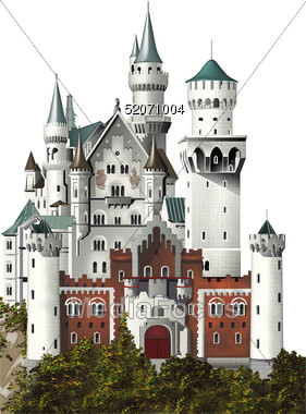 Stock Photo New Swan Stone Castle Bavaria Clipart.