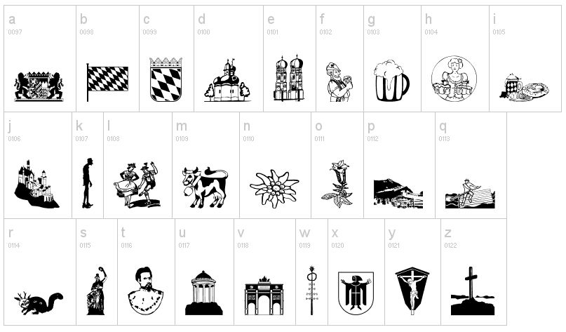Bavarian Clipart Designs.