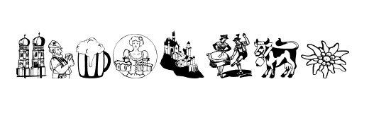 Bavarian Clipart Designs.