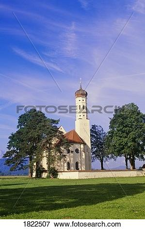 Picture of Bavarian church near Fussen, Bavaria, Germany 1822507.