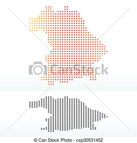 Clipart Vector of Bavaria, Germany.