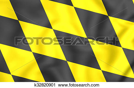 Clipart of Flag of Munchen (Bavaria), Germany. k32820901.
