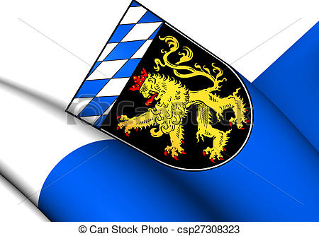 Clip Art of Flag of Upper Bavaria, Germany. Close Up. csp27308323.