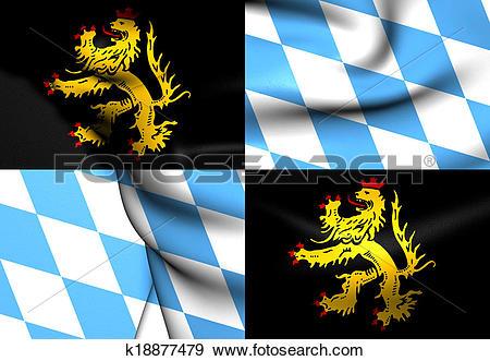 Stock Illustration of Flag of Bavaria.