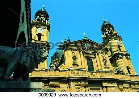 Stock Photograph of Bavaria, Munich, Theatinerskirsche f0009929.