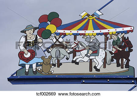 Stock Photograph of Germany, Bavaria, Munich, Oktoberfest scene on.