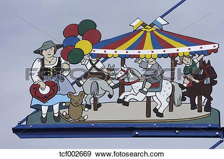 Stock Photograph of Germany, Bavaria, Munich, Oktoberfest scene on.