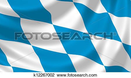 Clip Art of Flag of German Bavaria state k12267002.