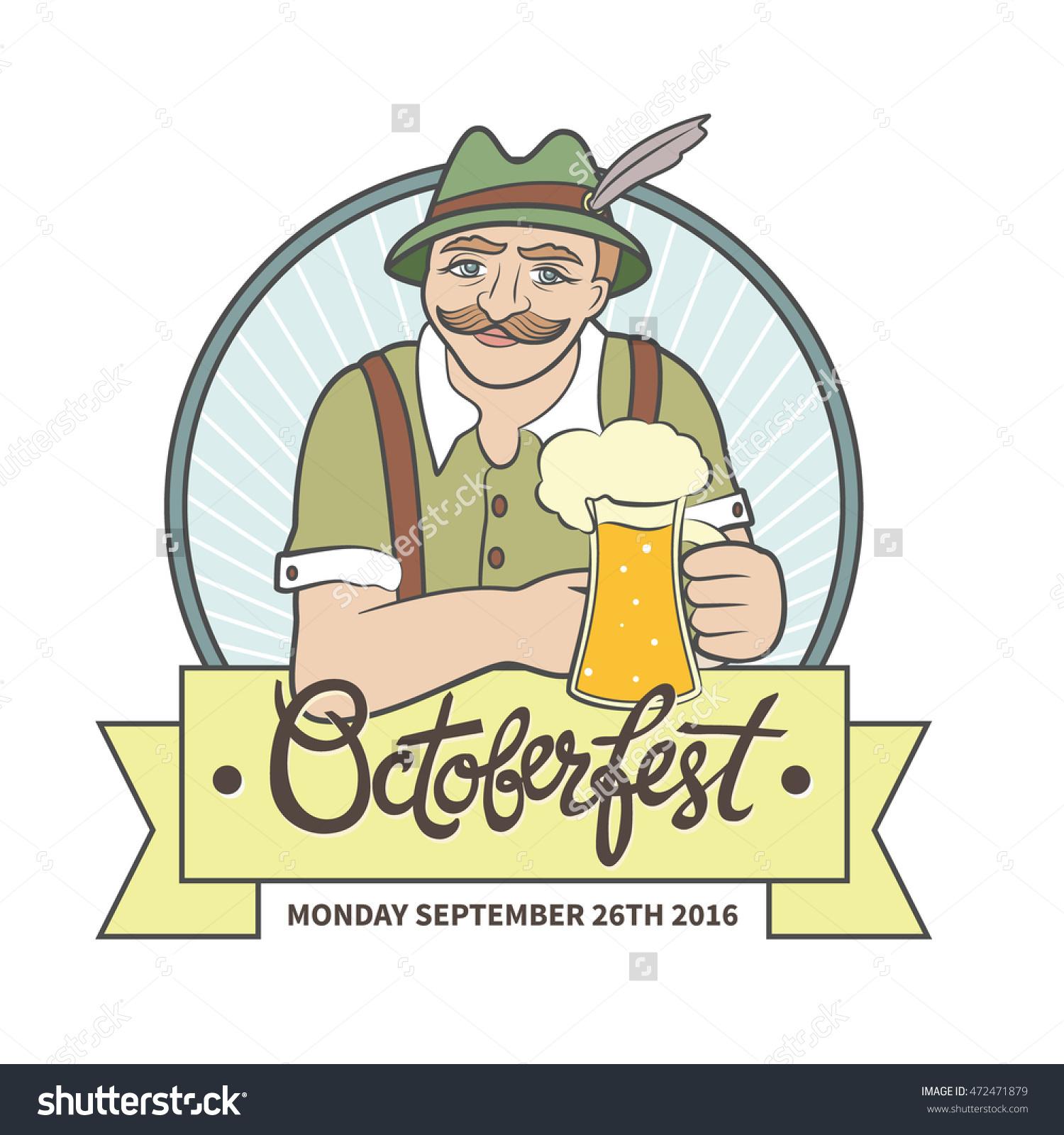 Bavarian Beer Mug Clip Art.