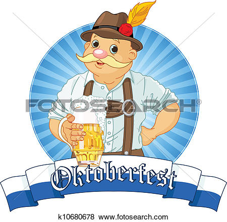 Clip Art of Oktoberfest Bavarian k10680678.