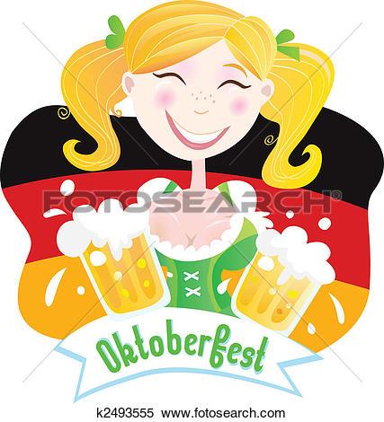 Clipart of Oktoberfest (Bavarian female) k2493555.