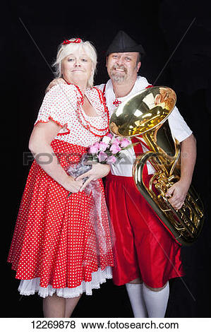 Pictures of Proud, loving Austrian couple at talent show in.