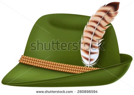 Bavarian hat clipart.