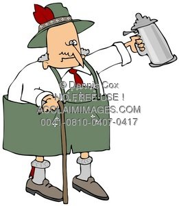 Clipart Illustration: Old Bavarian.