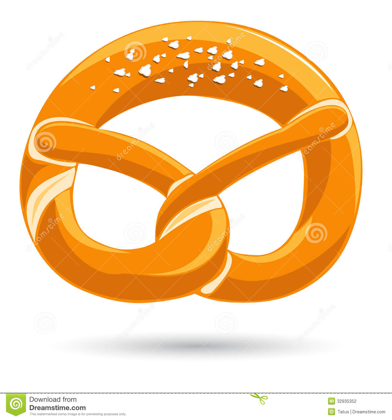 German pretzel clipart.