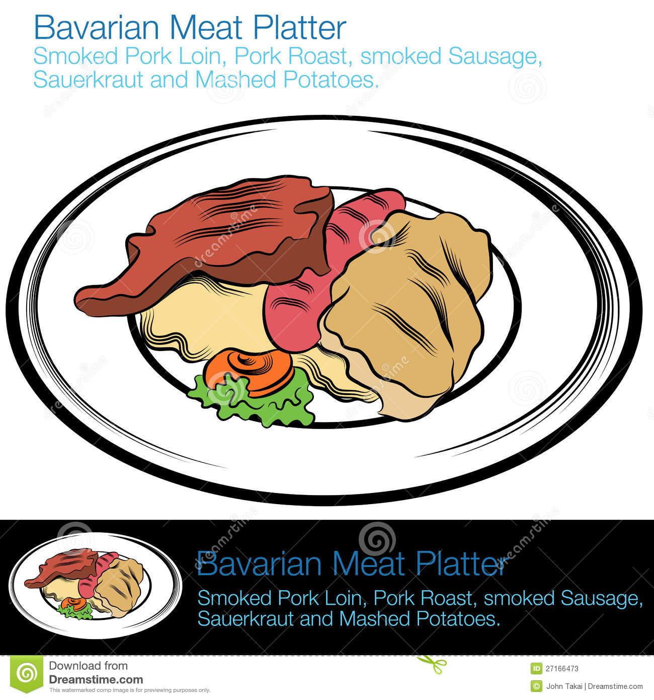 Bavarian Meat Platter Stock Photos.