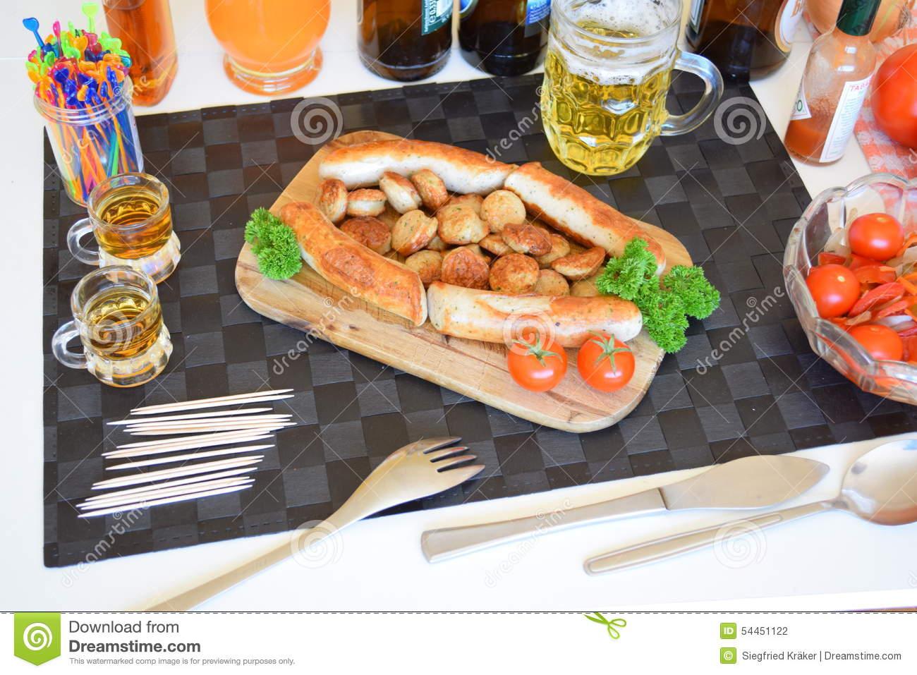 Bavarian dinner clipart #15