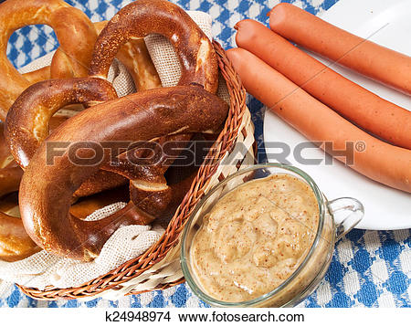 Stock Photo of Bavarian food k24948974.