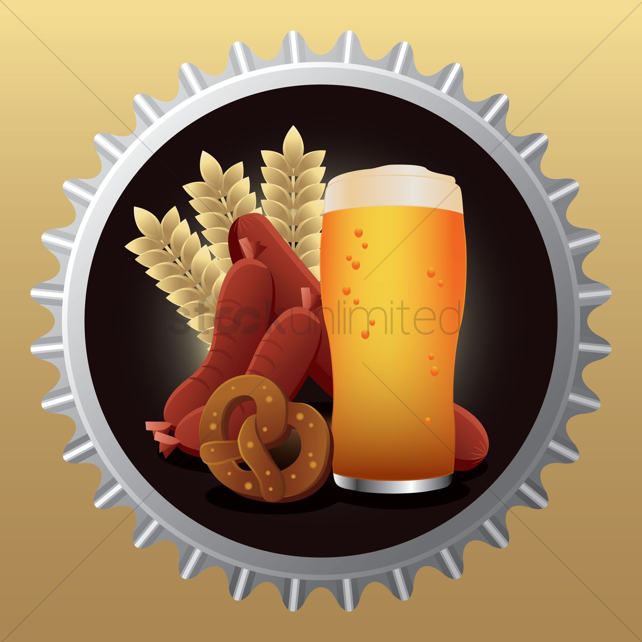 Bavarian food Vector Image.