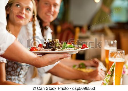Bavarian dinner clipart #3