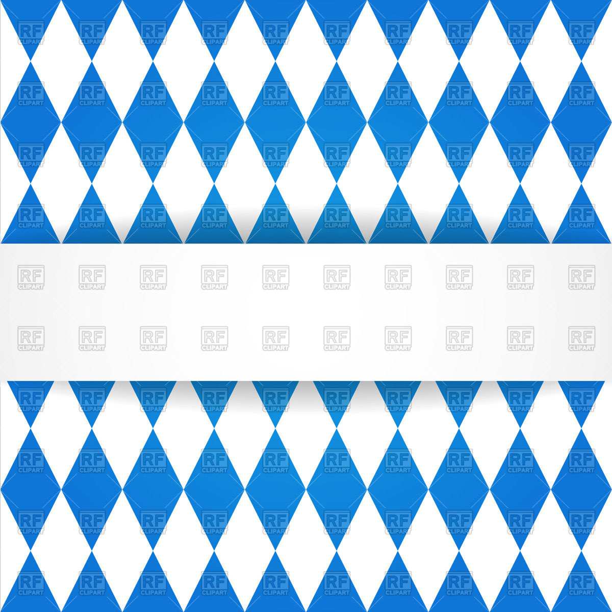 Oktoberfest background with Bavarian flag pattern Vector Image.
