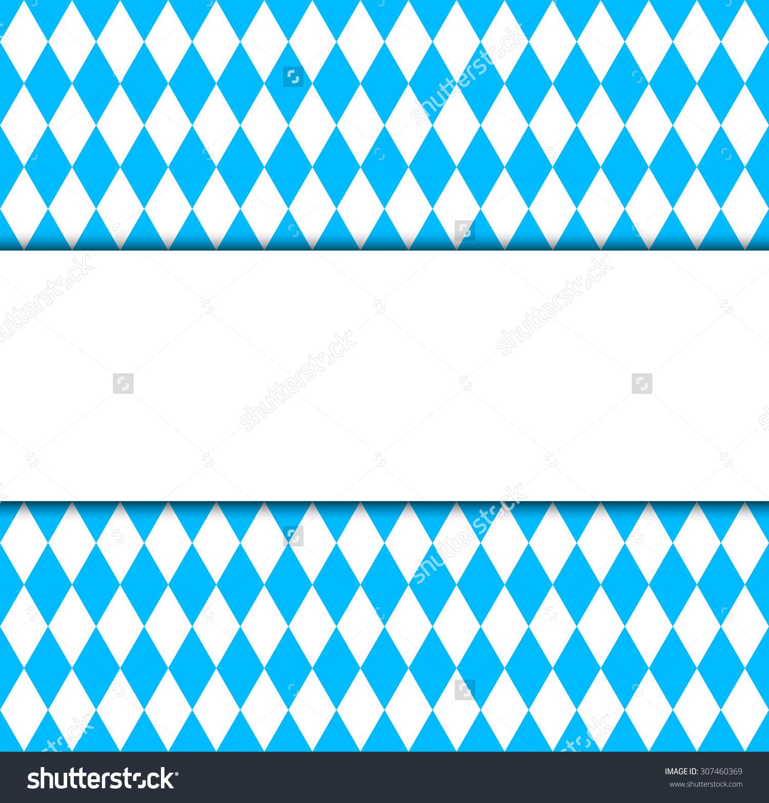 Seamless Wallpaper Bavarian Oktoberfest Flag Symbol Stock Vector.