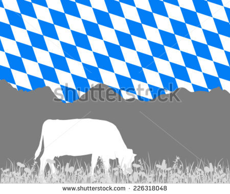 Bavarian Flag Stock Photos, Royalty.