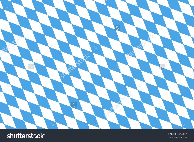 Blue White Checked Pattern Bavarian Flag Stock Illustration.