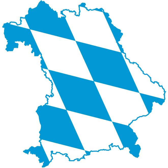 FLAG MAP OF BAVARIA VECTOR.