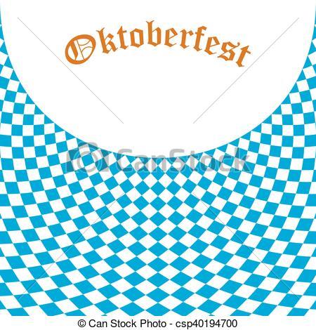 Vector Clipart of Oktoberfest Bavarian flag symbol background.