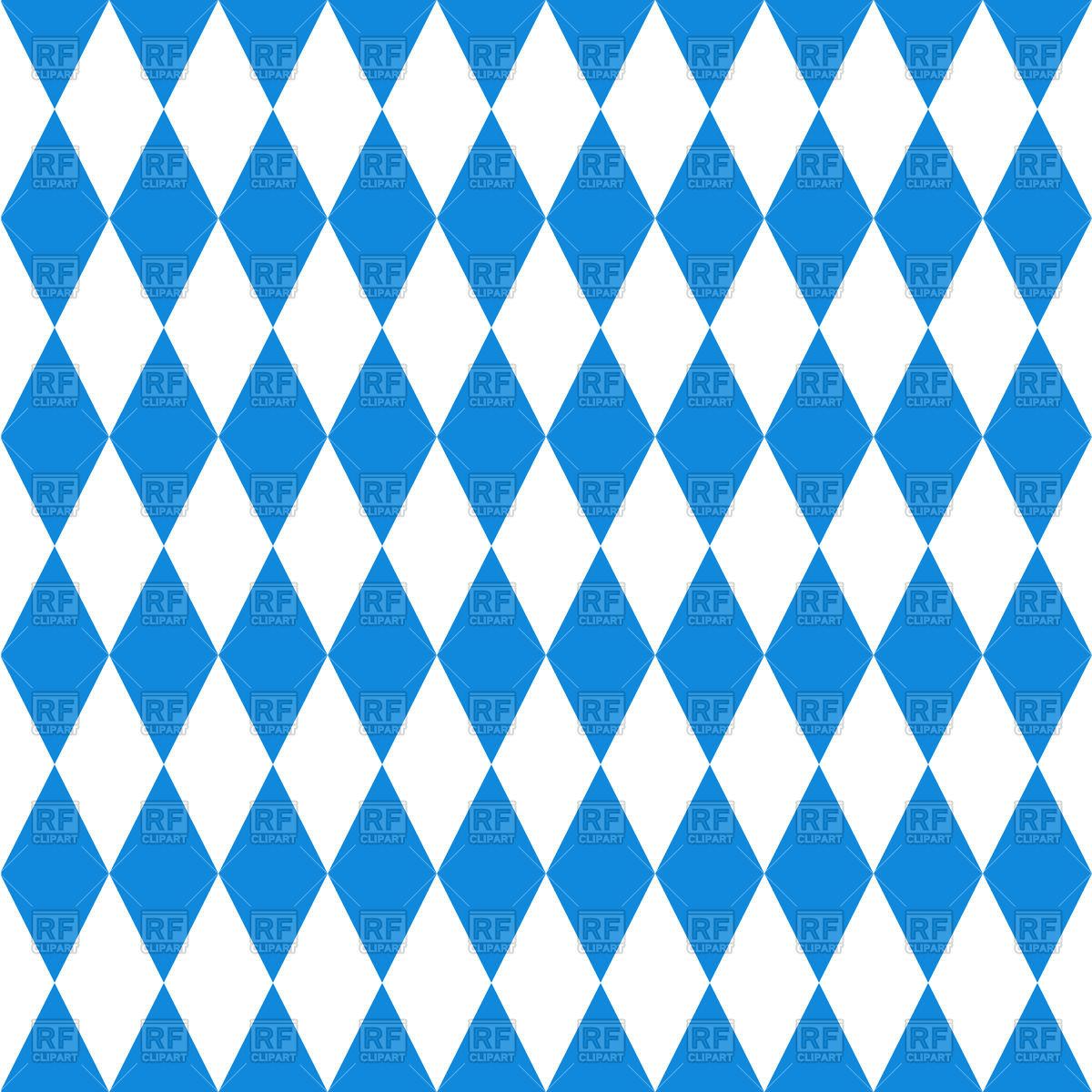 Seamless Bavarian flag pattern Vector Image #42896.