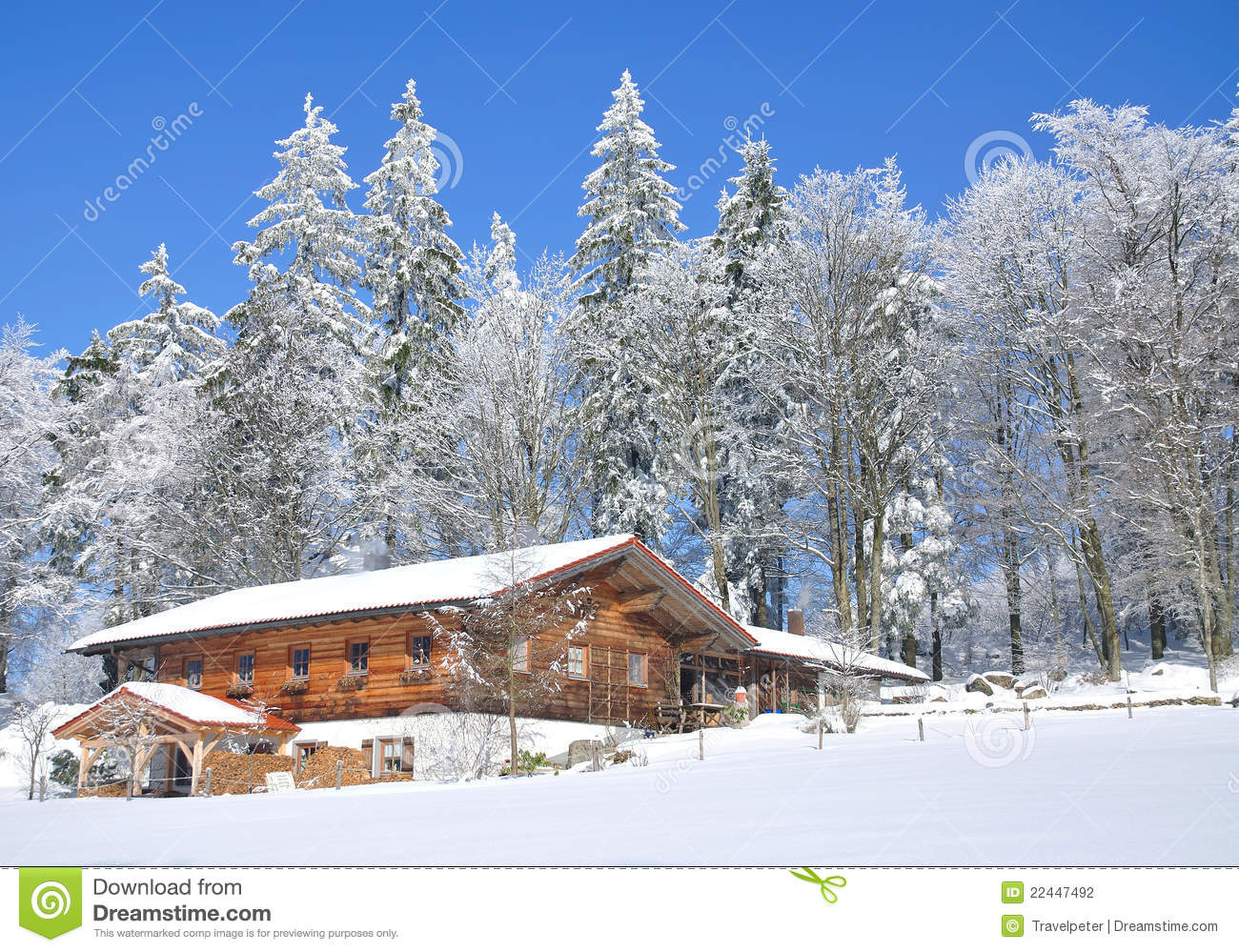 Wintertime In Bavarian Forest Stock Photography.
