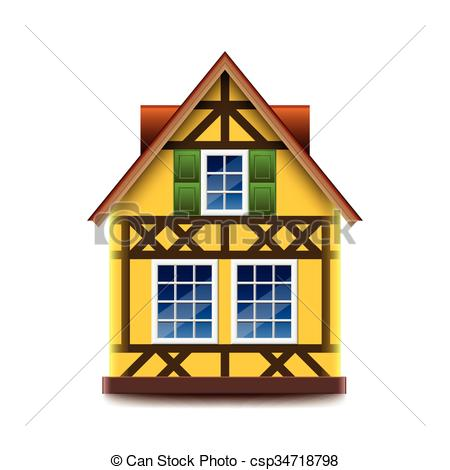 EPS Vectors of House in bavarian style vector.