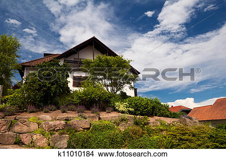 Stock Photo of charming Bavarian house k11010184.