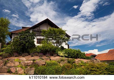 Stock Photo of charming Bavarian house k11010184.