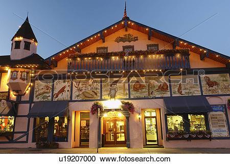 Stock Photography of Leavenworth, WA, Washington, Bavarian Alpine.