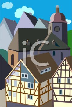 Travel Ad Bavarian Village.