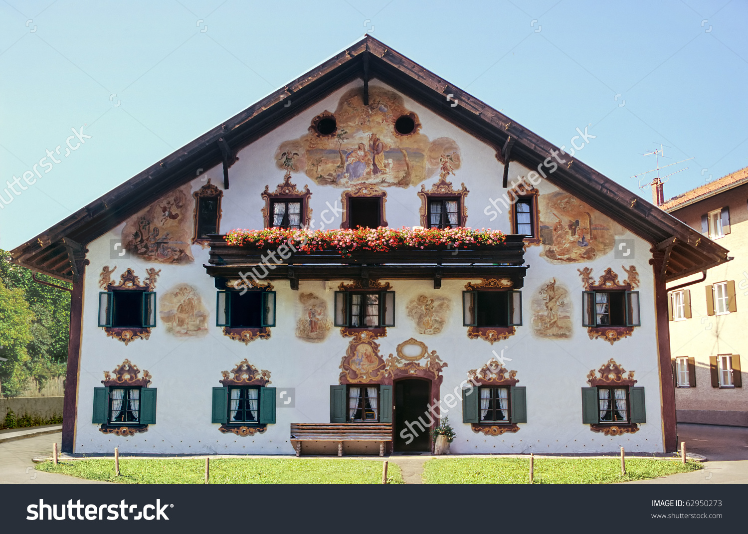 Decorated Bavarian House Stock Photo 62950273.