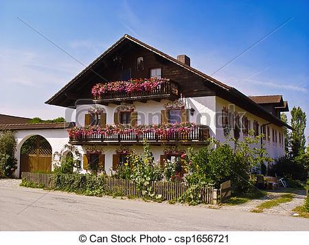 Stock Photography of Bavarian house csp1656721.