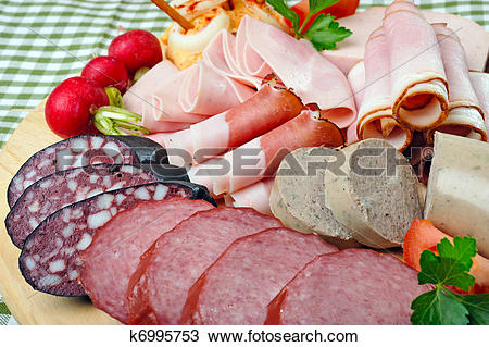 Stock Photo of Bavarian Snack Plate k6995753.