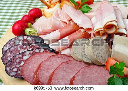 Stock Photo of Bavarian Snack Plate k6995753.